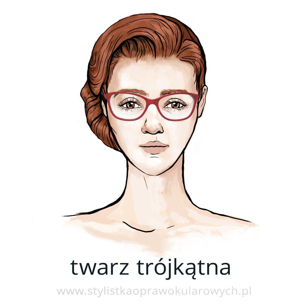 Kształty twarzy: twarz trójkątna