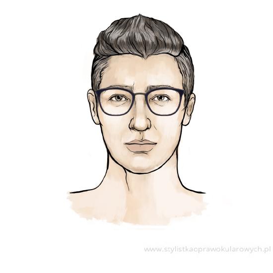 Okulary męskie Solano S20485 B - inspiracja dla twarzy owalnej