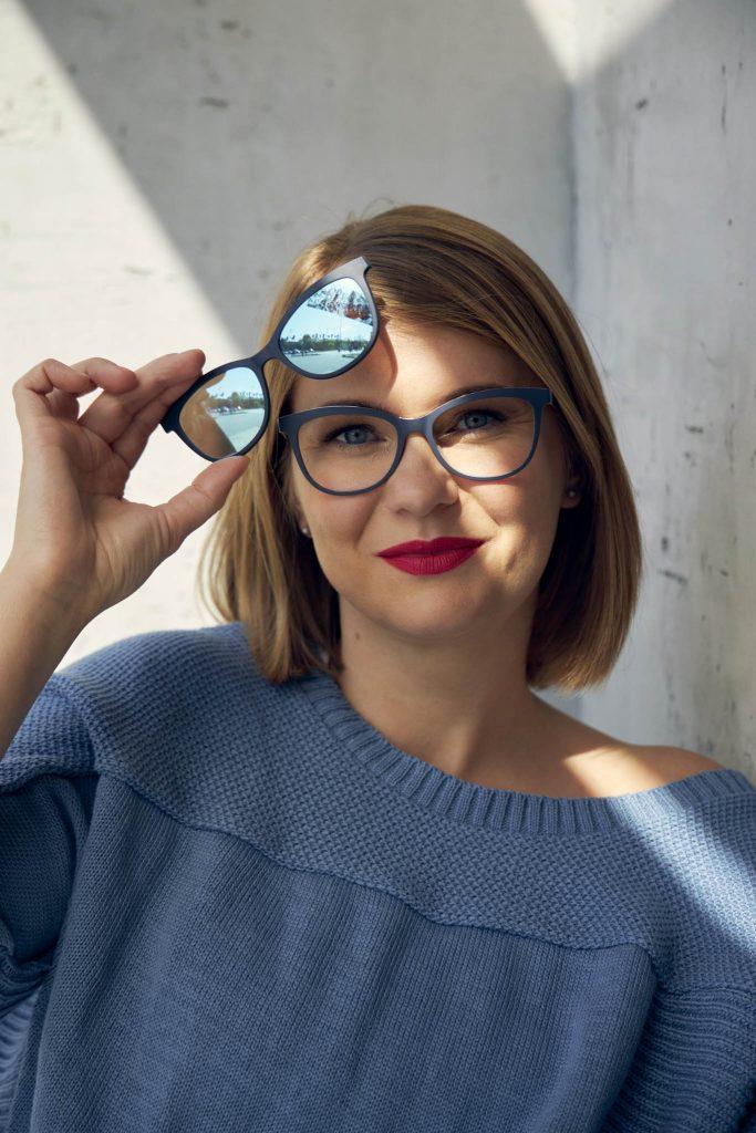 Okulary z nakładkami przeciwsłonecznymi Solano model CL 90099 A