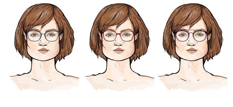 Okulary dla twarzy trapezoidalnej